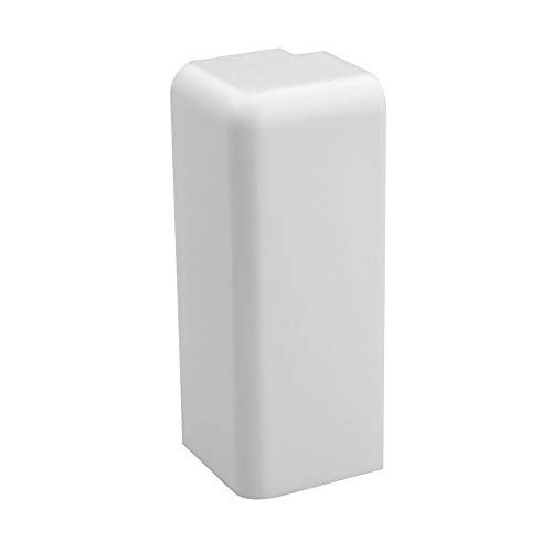 Trevendo® Außenecke weiß für Sockelleiste weiß 58mm TOP MDF Fußleisten für Vinyl Laminat Parkett