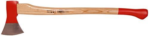 Connex Axt 1400 g - Robuster Stiel aus Eschenholz - Ideale Kraftübertragung - Kopf 3-fach verkeilt - Zur Bearbeitung von Holz / Universalaxt mit Schneidschutz / Spaltaxt / Fällaxt / COX840140