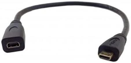 Cablecc HDMI 1.4 D Type Micro HDMI Male to Micro HDMI Female M/F Extension Cable 30cm