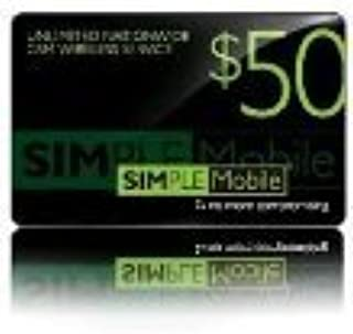 Simple Mobile Prepaid Refill Card $50