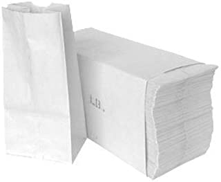 5 Pound White Paper Bag - Pack Of 500 Bags - 5.25
