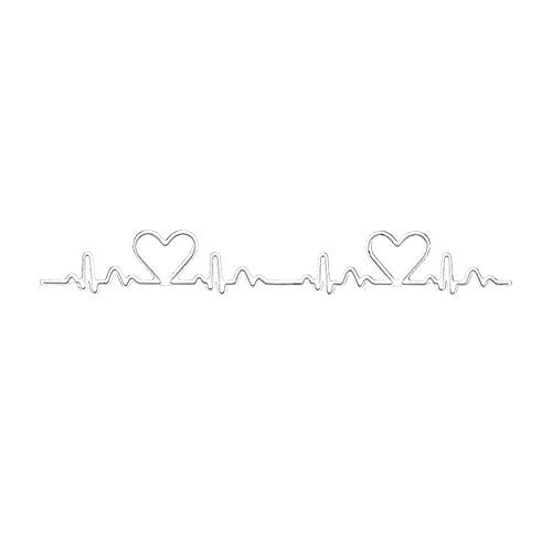 Uteruik Matrices de découpe en métal - Électrocardiogramme - Pochoirs de gaufrage - Pour la fabrication de cartes, le scrapbooking, les albums, le papier