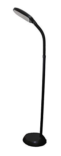 rosch LED-Stehleuchte | Tageslichtlampe, Augenschonend, Energiesparend | flexibler Lampenhals (Black)