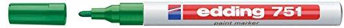 Marcatore permanente a vernice Edding - verde - tonda - 1-2 mm - 751 004