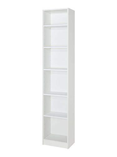 MUBLECASA.COM MUEBLECASA.COM Estantería Librería (Blanco), Medidas: 200cm Alto x 80cm Ancho x 27cm Fondo