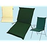 Coussin pour chaise dossier bas 95 x 48 x H6 cm couleur (vert)