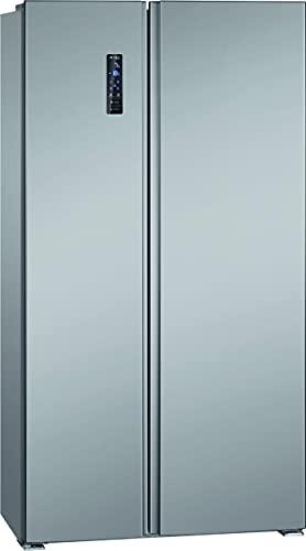 Bomann Side-by-Side Kombi SBS 7335 IX/MultiAirFlow System/Total No Frost / 177 cm/LED Beleuchtung / 4**** Gefrierraum/Front Edelstahl-Optik