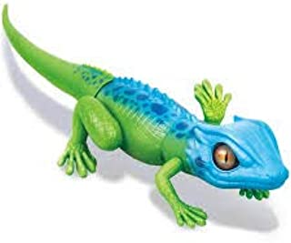 ROBO ALIVE Lurking Lizard Battery-Powered Robotic Toy (Green + Blue) Series 2