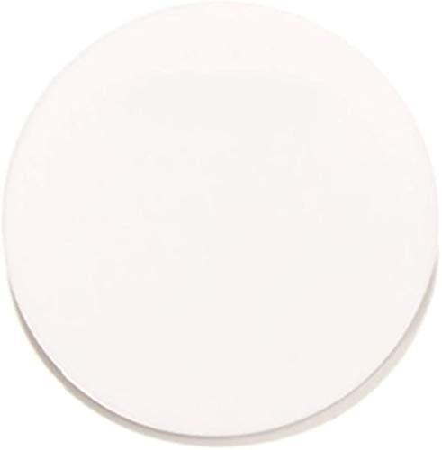 Wzqwzj Plastikbrett, Plexiglasplatte, weiß Acryl Runde Blatt, für DIY handgemachte Projekte, Stärke: 8mm,Diameter:30mm