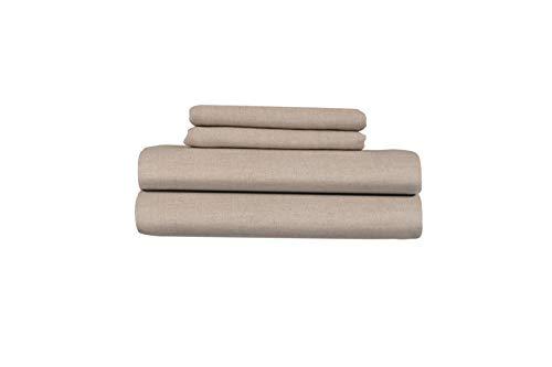 Juego de sábanas de lino puro hechas en Europa Len Linum