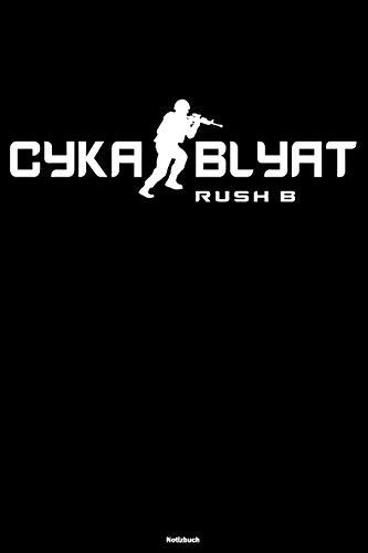 Cyka Blyat Rush B Notizbuch: Lustiges Russland Buch Russisches Meme Journal Gopnik Geschenk
