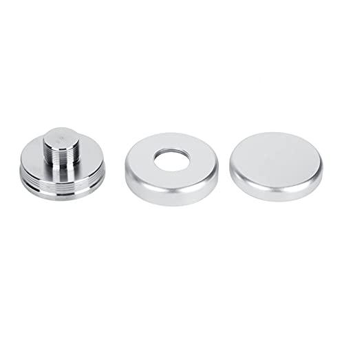 Distributörstampverktyg Kaffenivelleringsverktyg Utsökt design Kaffesabotage för dryck Handla hemma(Silver flat bottom 58MM)