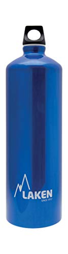 Laken Futura Botella de Agua, Cantimplora de Aluminio Boca Estrecha 1L, Azul
