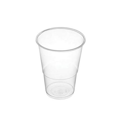 Climprofesional. Vasos desechables de plástico transparente 220 cc. Caja 3.000 vasos en packs de 100 uds