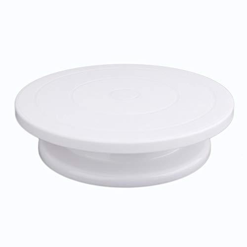cottonlilac Tocadiscos de plástico para decoración de Tartas, Mesa práctica, Disco Giratorio,...