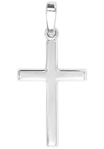 MyGold Kreuz Anhänger (Ohne Kette) Sterlingsilber 925 Silber Glanz 25mm x 12mm Kreuzanhänger Kettenanhänger Silberkreuz Taufe Kommunion Geschenk Landour A-02220-S921