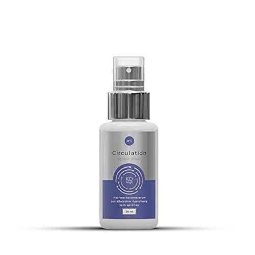 Circulation Serum Spray mit 3% Redensyl gegen Haarausfall zur Haarverdichtung 250 ml Anti-Haarausfall Mittel mit Koffein und Bockshornklee für Männer und Frauen KÖ-HAIR