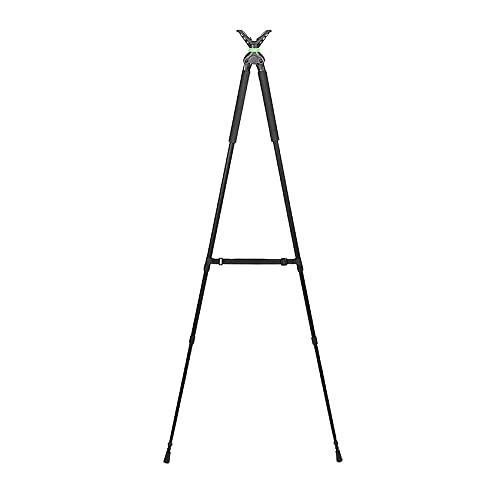 Bastón de Tiro Extensible – Bípode | Extensible de 86 a 180cm. Horquilla rotativa 360 Grados para carabinas, Rifles y escopetas de balines…