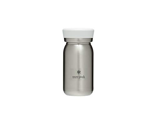 Snow Peak's Milk Bottle 350, Clear, TW-351CL, Stainless Steel, Vacuum-Sealed, Double Walled, Made in Japan, Lifetime Product Guarantee, Lightweight for Camping & Everyday Use