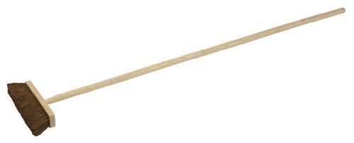 KS Tools 146.2081 - Escoba recta de fibra de coco y mango de