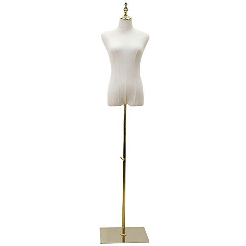 CAIJUN Schaufensterpuppe, Frauen Kleiderform for Hauptdekor Shop Schaufenster, Die Menschliche Figur Mit Stativ Leinwand Abdeckung (Color : Gold, Size : Small Size)