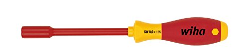 Wiha Schraubendreher SoftFinish® electric Sechskant-Steckschlüssel (00861) 10 mm x 125 mm VDE geprüft, stückgeprüft, ergonomischer Griff für kraftvolles Drehen, Allrounder für Elektriker