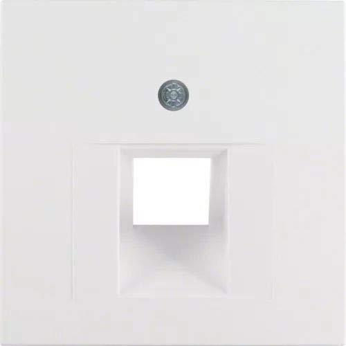 Hager ARSYS Berk 14071909 polarweiss matt Zentralstück, Edelstahl, 1 Stück Lautsprecheranschlussdose