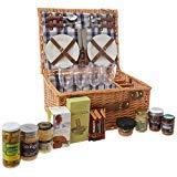 Henley 4 Personen Korb mit Picknick Auswahl - Geschenkideen für Weihnachten, Valentinstag, Hochzeit, Jubiläum, Business und Corporate