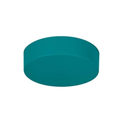 Lampenbaldachin - Lampenverteiler | Abdeckkappe/Baldachin Zipdesign Medium mit 0-7 Lampenpendel Ø120mm, Höhe 30mm (türkis RAL5018 matt)