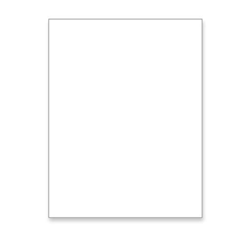 Heavy Digital Smooth White Cover Card Stock, 8-1/2 x 11 Letter Size 100 lb., 270 gsm (100 Pack)