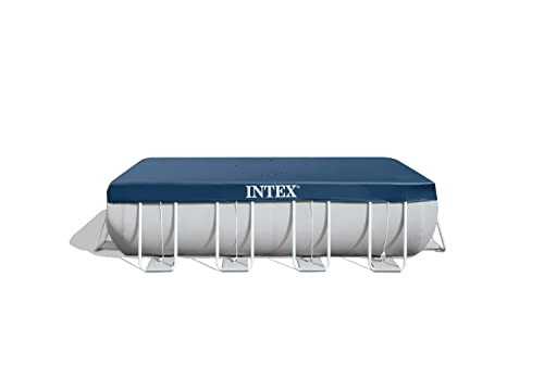 Intex Prisma Frame 28037 - Cobertor piscina rectangular, 389 x 184 cm