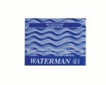 Waterman - Cartucce d'inchiostro, 8 cartucce, colore: Nero