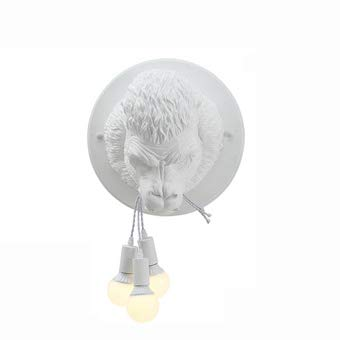 Industrielle Wind Kreative Orang-Utan Affe Harz Tischlampe Bar Cafe Art House Retro Galerie Schlafzimmer Nachttischlampe BüRo E27 LED Einfache Schreibtischleuchte,White