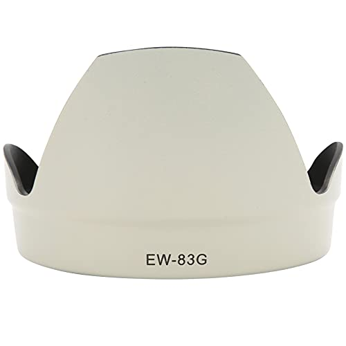 Sxhlseller Gegenlichtblende, EW-83G Tragbare Kamera-Gegenlichtblende für Canon EF 28-300mm F/3.5-5.6L is USM Objektiv Wendbar Weiß