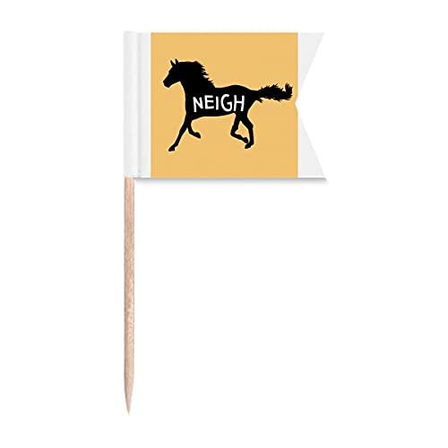 Mustang Running Dash Neigh Palillo de dientes Marcado de Marcado para Fiesta Pastel Alimentos Cheeseplate