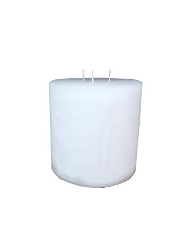 Klocke Kerzen Vela redonda de tres mechas / velas multimecha – Color blanco – Altura 15 cm / diámetro 15 cm – Larga duración (100 horas) – Vela pilar de alta calidad con varias mechas