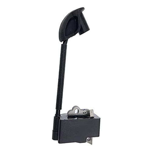 Bobina de encendido para Stihl BG56 BG86 BG86C Rep. De soplador de hojas portátil 4241400 1306 42411306B (Color: Negro) Kit de cepillo (Color: Negro)