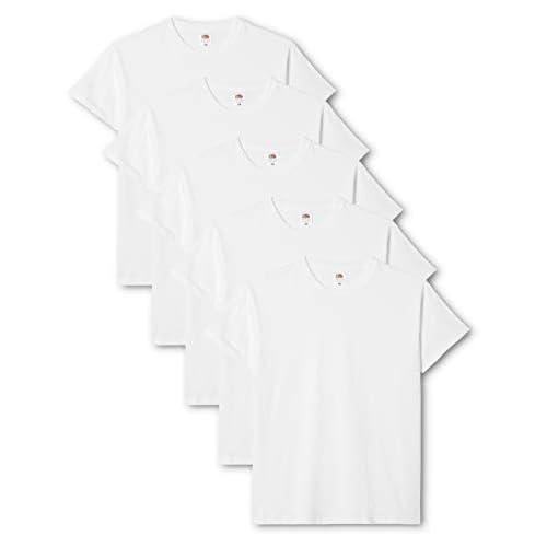 Fruit of the Loom Original T., T-Shirt Uomo, Bianco (White 30), Small(Pacco da 5)