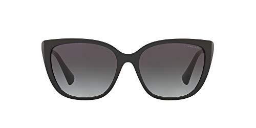 Ralph by Ralph Lauren Gafas de sol de mariposa Ra5274 para mujer, Negro brillante/Gris degradado,