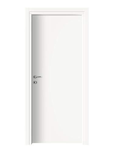 Porta da interni battente reversibile - Alba (80x210, Bianco)