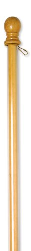 """Evergreen Flag Agile Wooden House and Estate Flag Pole with Ring and Anti-Wrap Tube - 56"""" L x 1.7""""W x 1.7""""H"""