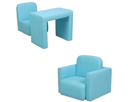 N\C Kindersofa Multifunktional 2 in 1 Kompaktes Design Sofa Sessel mit Kissen, geeignet für Jungen und Mädchen