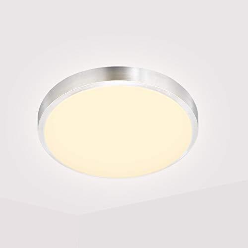 Hengda 15W LED Deckenleuchte Bad, Badezimmer Lampe 3200K Warmweiße, 1320LM Led Panel Außenleuchte für Schlafzimmer, Küche, Balkon, Flur, Ersetzt 120W Glühbirne
