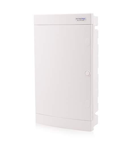 Zekeringkast inbouw IP40 verdeler behuizing 3-rijen tot 36 modules witte deur voor droogkamer installatie in huis