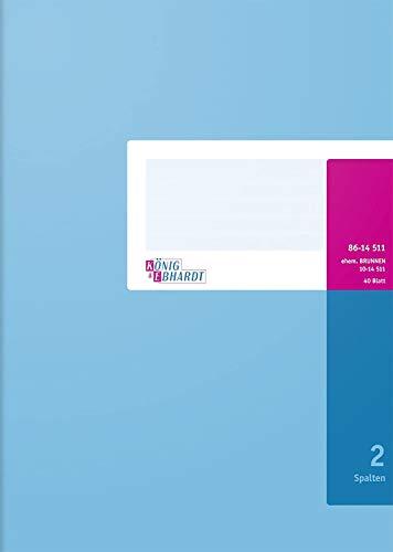 König & Ebhardt 8614511 Geschäftsbuch / Spaltenbuch (A4, mit festem Kopf, 80g/m²)