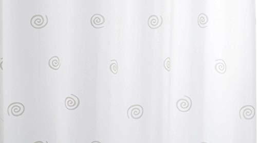GRUND Duschvorhang CIRCLES 180x200 cm weiss-grau