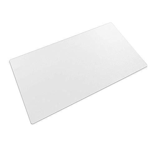 Schreibunterlage, transparent, 60 x 40 cm, groß, rutschfest strukturiert, PVC, Schreibunterlage, wasserdicht, runde Kanten