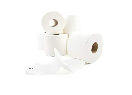 2x40 = 80 Rollen - Toilettenpapier, 3-lagig, 250 Blatt, hochweißer Zellstoff, sanft und weich, angenehm duftend