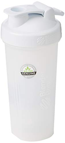 Blender Bottle Classic Loop - Protéine Shaker | Bouteille d'eau avec poignée de transport | 590 ml| full color blanc
