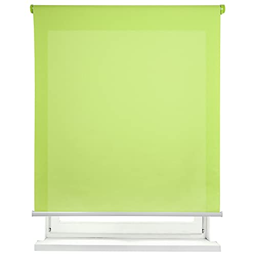 MERCURY TEXTIL Estor Enrollable translúcido Liso (Verde, 150x180cm)